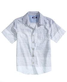 Univibe Mixed-Stripe Cotton Shirt, Big Boys