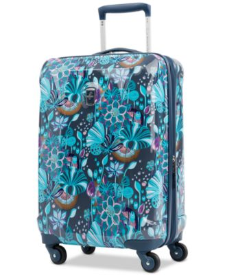 "Infinity Lite 3 Lotus Temple 21"" Hardside Carry-On Spinner Suitcase, Created for Macy's"