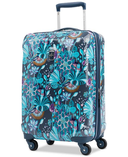 "Atlantic Infinity Lite 3 Lotus Temple 21"" Hardside Carry-On Spinner Suitcase, Created for Macy's"