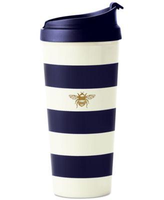 Thermal Mug, Navy Stripe