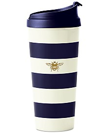 kate spade new york Thermal Mug, Navy Stripe