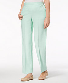 Alfred Dunner Petite Roman Holiday Straight-Leg Pants