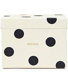 kate spade new york Recipe Box, Deco Dot