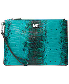 MICHAEL Michael Kors Medium Snakeskin Clutch
