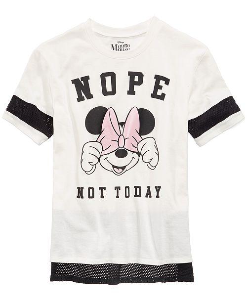 9a3ae1f16d6278 ... Disney Mesh-Trim Minnie Mouse Top