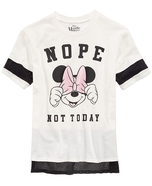20a14b4495 ... Disney Mesh-Trim Minnie Mouse Top