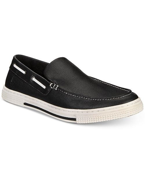 401ccb2e9aa6f Kenneth Cole Reaction Men s Ankir Canvas Slip-on Boat Shoes ...