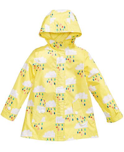 Carter's Cloud-Print Hooded Rain Jacket, Little Girls