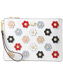 MICHAEL Michael Kors Medium Floral Applique Wristlet
