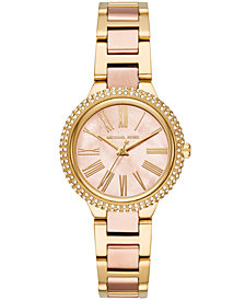 Michael Kors Women's Taryn Two-Tone Stainless Steel Bracelet Watch 33mm