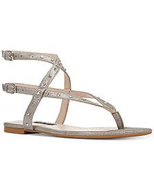 Nine West Simcha Studded Flat Sandals