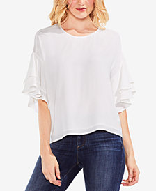 Vince Camuto Tiered Ruffle-Sleeve Top