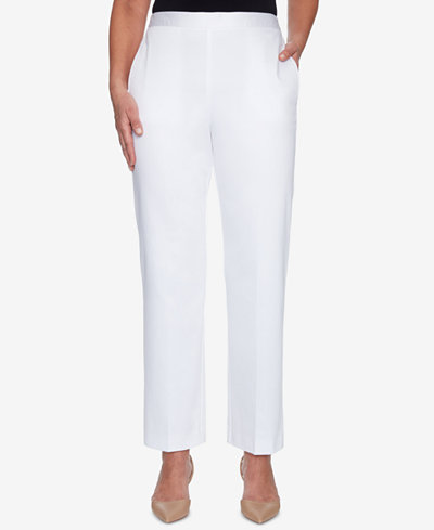 Alfred Dunner Charleston Pull-On Flat-Front Pants
