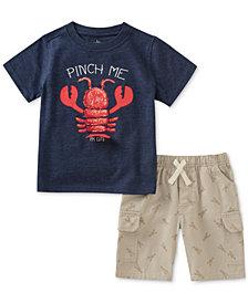 Kids Headquarters 2-Pc. Lobster-Print T-Shirt & Cargo Shorts Set, Baby Boys