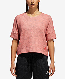 adidas Cotton French Terry Cropped Top