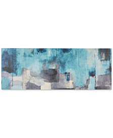 "INK+IVY 'Interaction Blue' 48"" x 18"" Gel-Coated Canvas Print"