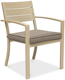 CLOSEOUT! Beach House Outdoor Dining Chair, with Sunbrella® Cushions, Created for Macy's