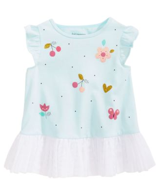 Graphic-Print Cotton Tunic, Baby Girls, Created for Macy's