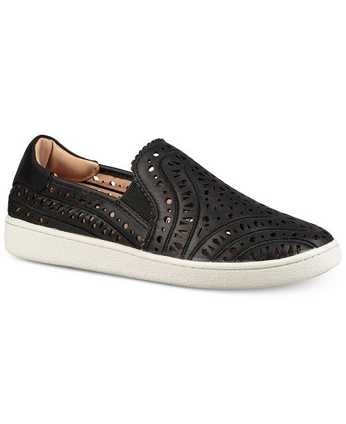 UGG Women's Cas Perforated Leather Slip-On Sneakers BXDhzJ6s