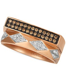 Le Vian Chocolatier® Diamond Contemporary Ring (1/5 ct. t.w.) in 14k Rose Gold