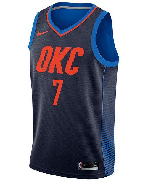 f4ba3546fa95 Nike Men s Carmelo Anthony Oklahoma City Thunder Statement Swingman Jersey  ...