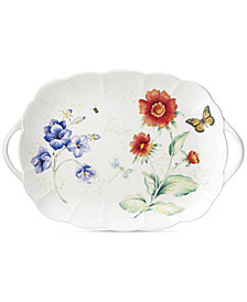 Lenox Butterfly Meadow Handled Serving Platter