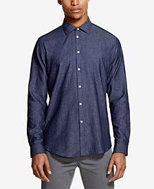 DKNY Men's Indigo Twill Shirt, Created for Macy's