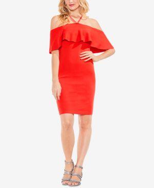 Vince Camuto Flounce Halter Sheath Dress 5899084
