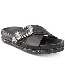 Frye Lily Western Crisscross Flat Sandals