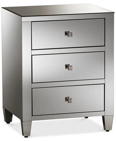 Rosalind Mirrored Night Stand, Quick Ship