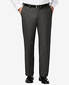 J.M. Big & Tall Classic Fit Stretch Sharkskin Flat Front Dress Pants
