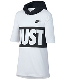 Nike Sportswear Hooded Graphic-Print T-Shirt, Big Boys