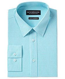 Nick Graham Men's Slim-Fit Stretch Easy-Care Tile Print Dress Shirt