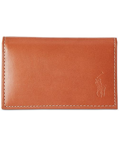 Polo Ralph Lauren Men s Wallet, Burnished Slim Credit Card Case with ... 88483e80d7f