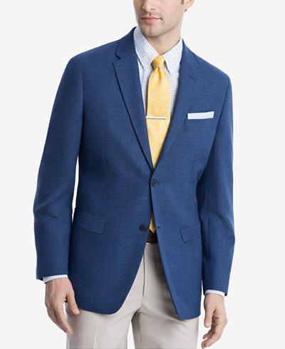 Tommy Hilfiger Royal Blue Weave TH Flex Stretch Modern-Fit Sport Coat