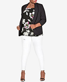 City Chic Trendy Plus Size Shawl-Collar Blazer