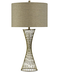 StyleCraft Twisted Metal Table Lamp