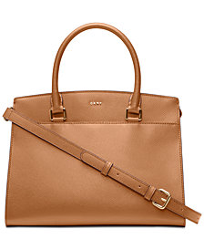 DKNY Leather Satchel, Created for Macy's