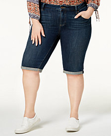 Lucky Brand Trendy Plus Size Cuffed Denim Shorts