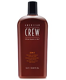 American Crew 3-In-1 Shampoo, Conditioner & Body Wash, 33.8-oz., from PUREBEAUTY Salon & Spa