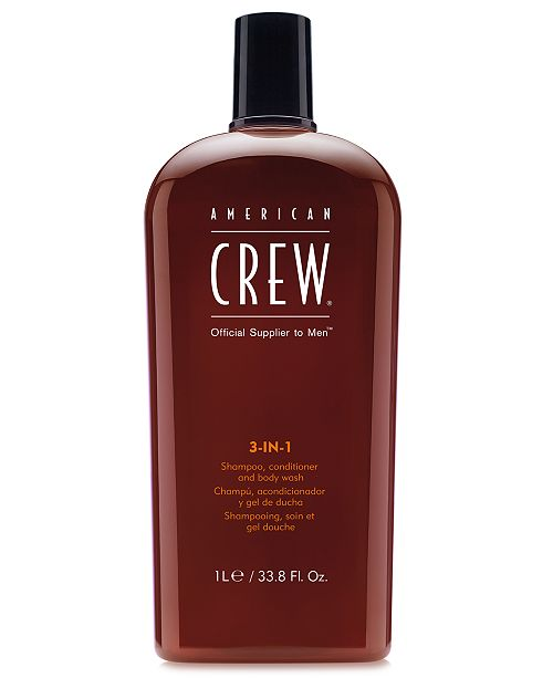 American Crew 3-In-1 Shampoo, Conditioner & Body Wash, 33.8-oz., from PUREBEAUTY Salon & Spa