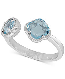 Sky Blue Topaz Cuff Ring (1-9/10 ct. t.w.) in Sterling Silver