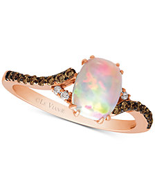 Le Vian Chocolatier® Neopolitan Opal™ (5/8 ct. t.w.) & Diamond (1/6 ct. t.w.) in 14k Rose Gold
