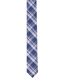 Original Penguin Men's Percy Plaid Skinny Tie
