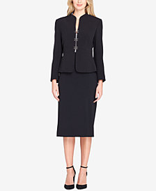 Tahari ASL Hook-Closure Skirt Suit
