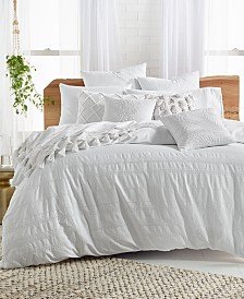 Lucky Brand Stripe Embroidery Comforter Sets
