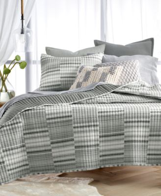 Broken Stripe Twin Quilt, Created for Macy's