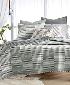 LAST ACT! Lucky Brand Yarn Dyed Broken Stripe Quilt Collection, Created for Macy's