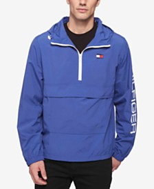 Tommy Hilfiger Men's Hooded Half-Zip Jacket