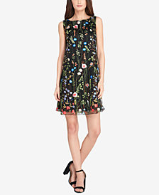 Tahari ASL Embroidered Shift Dress